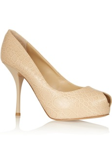 Giuseppe Zanotti Monro croc-effect leather peep-toe pumps