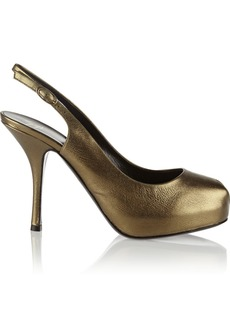 Giuseppe Zanotti Monro metallic leather slingback pumps