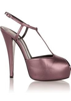 Giuseppe Zanotti Monro metallic leather T-bar pumps