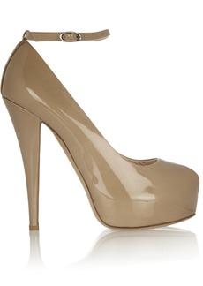 Giuseppe Zanotti Monro patent-leather peep-toe pumps
