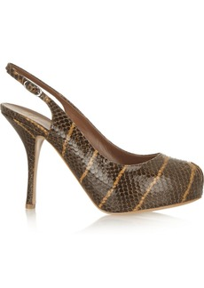 Giuseppe Zanotti Monro snake-effect leather slingback pumps