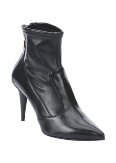 Giuseppe Zanotti nero leather cone heel ankle booties