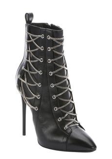 Giuseppe Zanotti nero leather 'Olinda 110' lace-up detail stiletto ...
