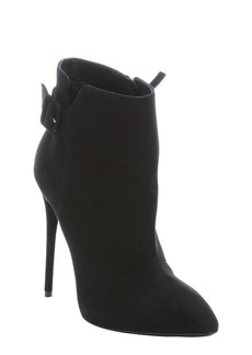 Giuseppe Zanotti nero suede buckle detail stiletto ankle booties