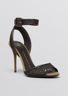 Giuseppe Zanotti Open Toe Ankle Strap Sandals - Coline Mesh High Heel