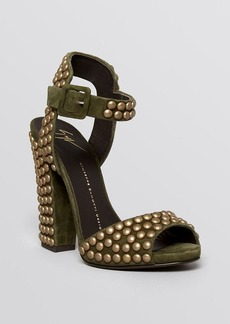 Giuseppe Zanotti Open Toe Ankle Studded Ankle Strap Platform Sandals - Alien High Heel