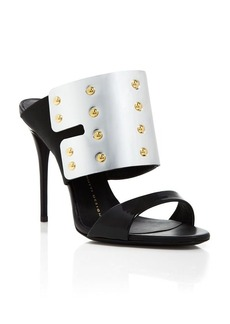 Giuseppe Zanotti Open Toe Slide Sandals - Coline Shield High Heel