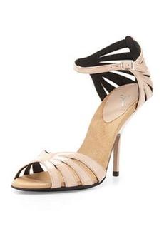 Giuseppe Zanotti Patent Leather Ankle-Strap Sandal, Blush