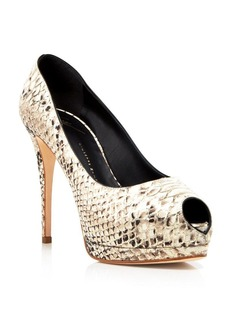 Giuseppe Zanotti Peep Toe Platform Pumps - Sharon High Heel