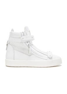 Giuseppe Zanotti Perforated Leather High Top Sneakers