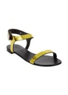 Giuseppe Zanotti Plated Ankle-Strap Flat Sandals