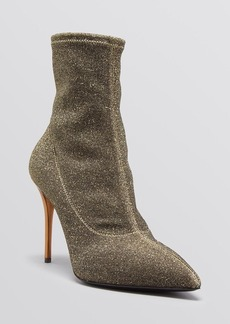 Giuseppe Zanotti Pointed Toe Booties - Yvette Lurex High Heel