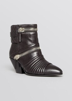 Giuseppe Zanotti Pointed Toe Moto Booties - Guns