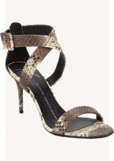 Giuseppe Zanotti Python-Stamped Crisscross-Strap Sandals