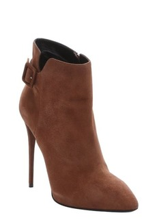 Giuseppe Zanotti sigaro suede buckle detail stiletto ankle booties