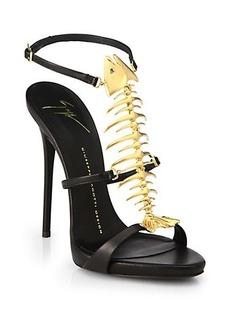 Giuseppe Zanotti Skeletal Fish Leather Sandals