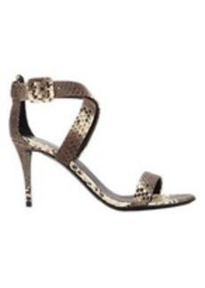 Giuseppe Zanotti Snake Crisscross Ankle-Strap Sandals