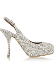 Giuseppe Zanotti Snake-effect leather platform pumps