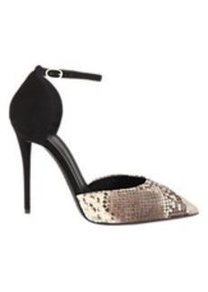 Giuseppe Zanotti Snake-Stamped d'Orsay Ankle-Strap Pumps