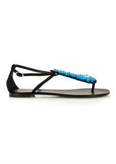 Giuseppe Zanotti Stone-embellished suede sandals