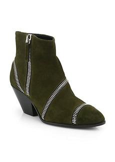 Giuseppe Zanotti Suede Zipper Ankle Boots