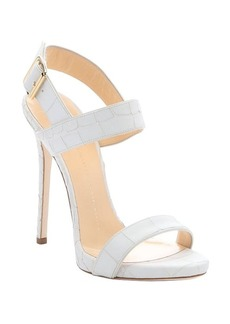 Giuseppe Zanotti white leather 'Coline 110' ankle strap stiletto sandals