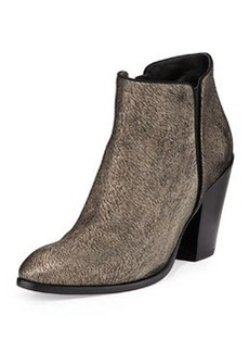 Metallic Textured Ankle Boot, Black/Gold   Metallic Textured Ankle Boot, Black/Gold