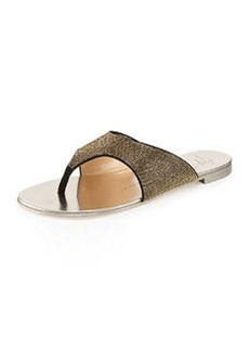 Micro-Studded Flat Suede Thong Sandal   Micro-Studded Flat Suede Thong Sandal