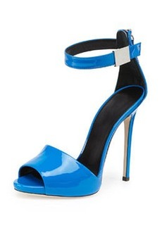 Patent Ankle-Wrap Sandal, Puffo   Patent Ankle-Wrap Sandal, Puffo