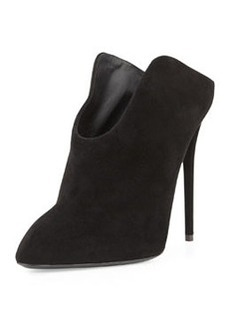 Suede Point-Toe Mule, Nero   Suede Point-Toe Mule, Nero