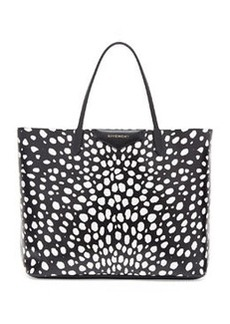 Antigona Large Leather Tote Bag, Dots Print   Antigona Large Leather Tote Bag, Dots Print