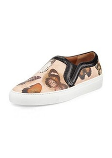 Butterfly-Print Leather Skate Shoe   Butterfly-Print Leather Skate Shoe