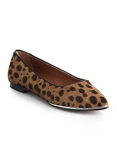 Givenchy Alicia Leopard-Print Calf Hair Flats