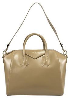 Givenchy Antigona Beige Leather Medium Satchel Bag w/ Shoulder Strap