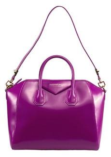 Givenchy Antigona Fuchsia Leather Medium Satchel Bag w/ Shoulder Strap