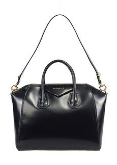 Givenchy Antigona Navy Leather Medium Satchel Bag w/ Shoulder Strap