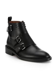 Givenchy Bandage Leather Biker Boots