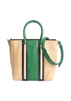 Givenchy beige and green striped convertible tote bag