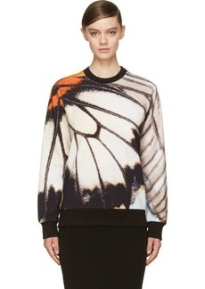 Givenchy Black & White Oversized Butterfly Sweatshirt