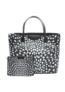 Givenchy black and white coated canvas 'Antigona' spotted tote