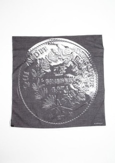 Givenchy black and white cotton mesh coin printed scarf