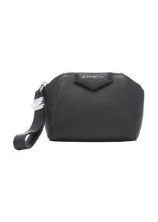 Givenchy black goatskin 'Antigona' wristlet bag