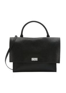 Givenchy black lambskin medium 'Shark' convertible top handle bag