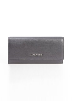 Givenchy black leather continental wallet