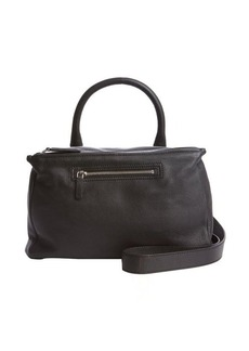 Givenchy black leather double zip one handle convertible tote