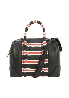 Givenchy black leather 'Lucrezia' striped accent convertible top handle bag