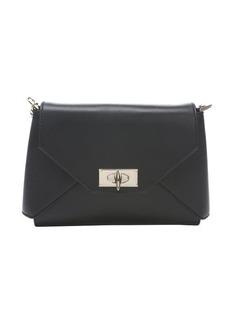 Givenchy black leather 'Shark' chain link shoulder bag