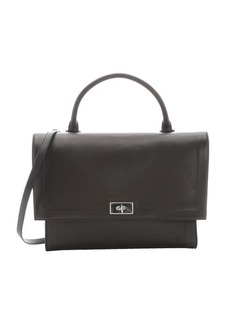 Givenchy black leather shark lock convertible top handle bag