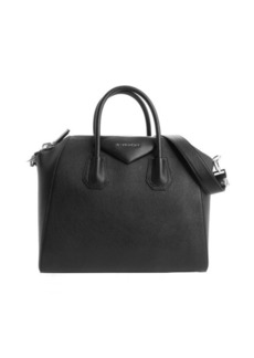 Givenchy black leather top handle convertible tote