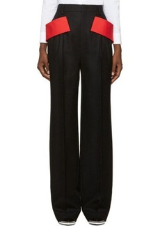 Givenchy Black Wide-Leg Trousers